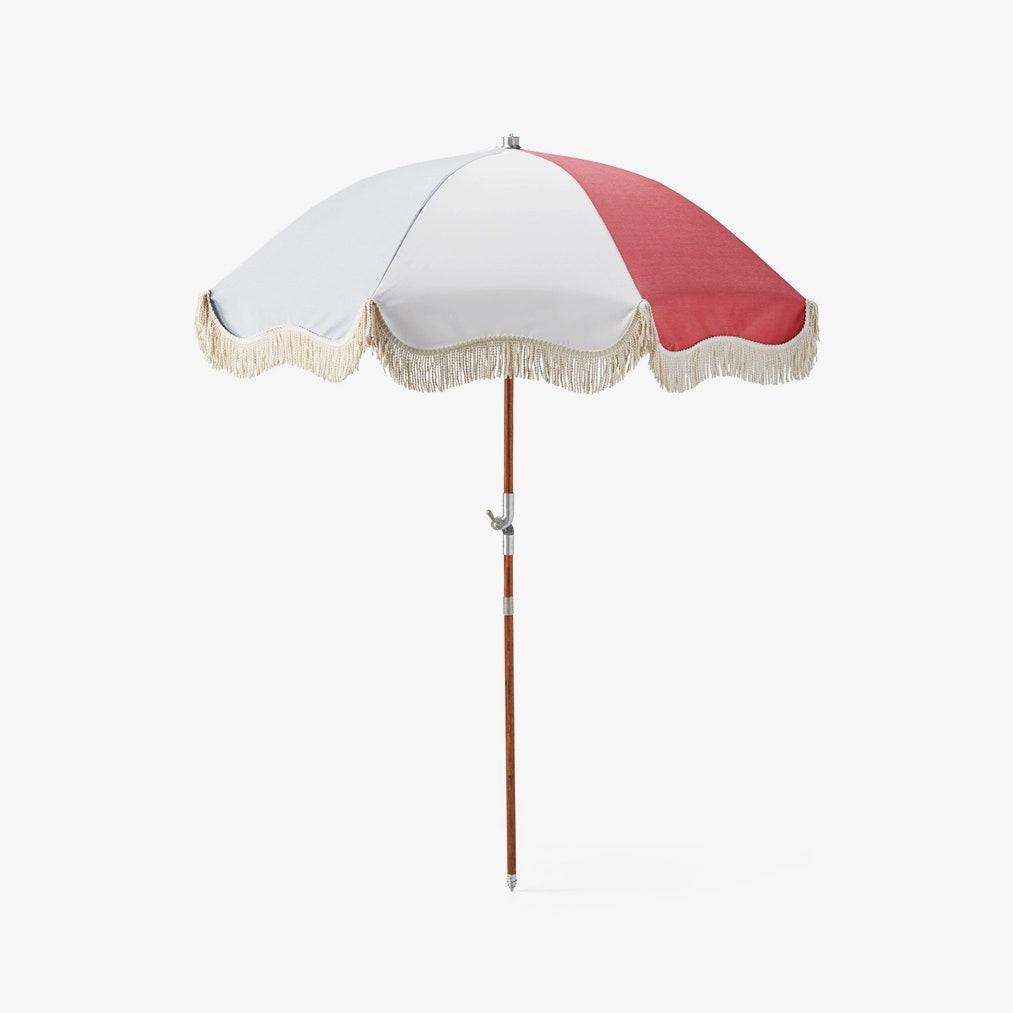 Image may contain: Lamp, Garden Umbrella, and Patio Umbrella