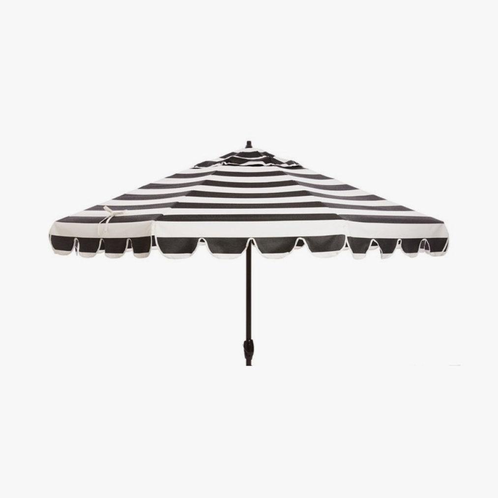 Image may contain: Lamp, Garden Umbrella, Patio Umbrella, and Canopy