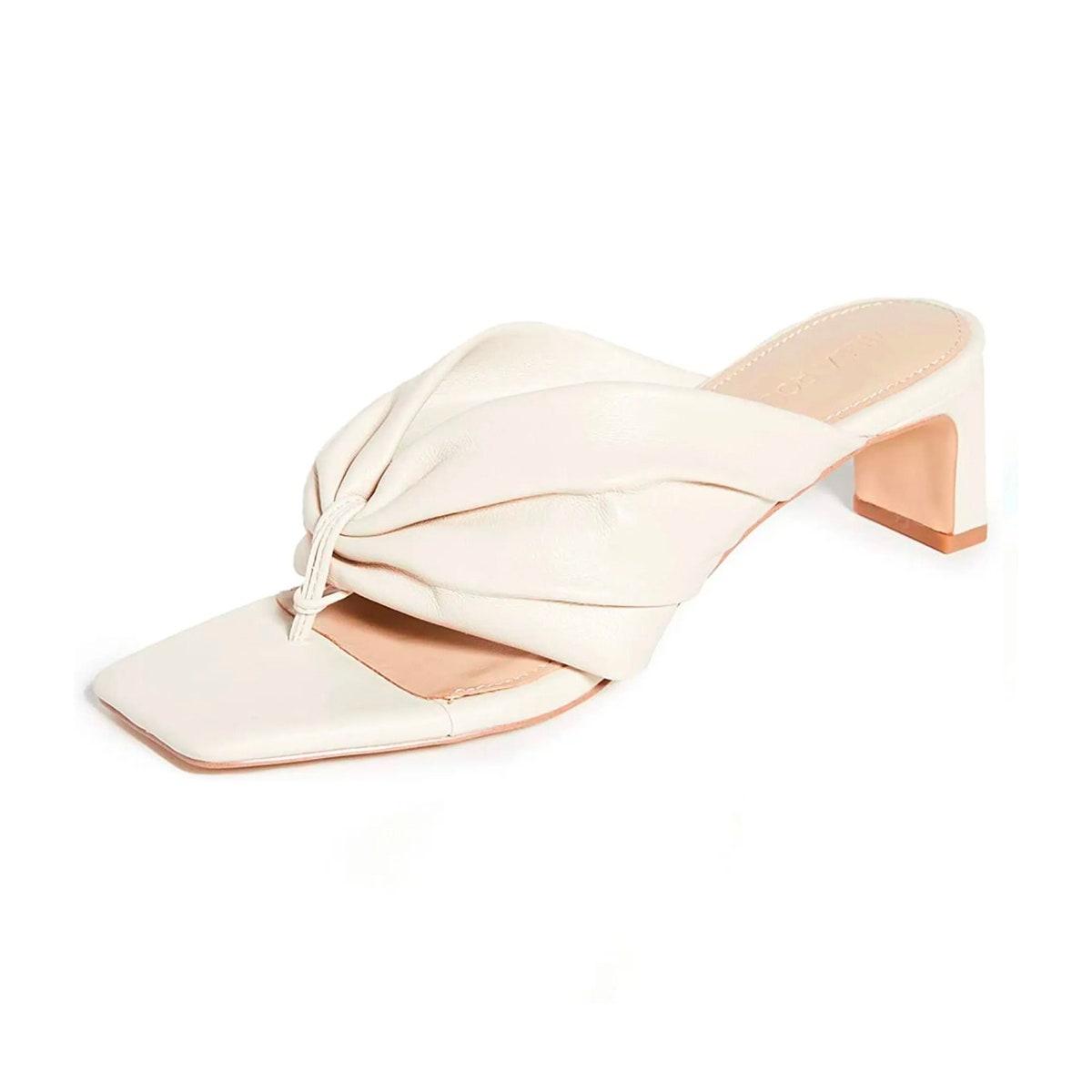 Square Toe Sandals in white